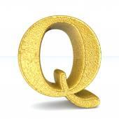 3d GOLD letter Q — Stock Photo