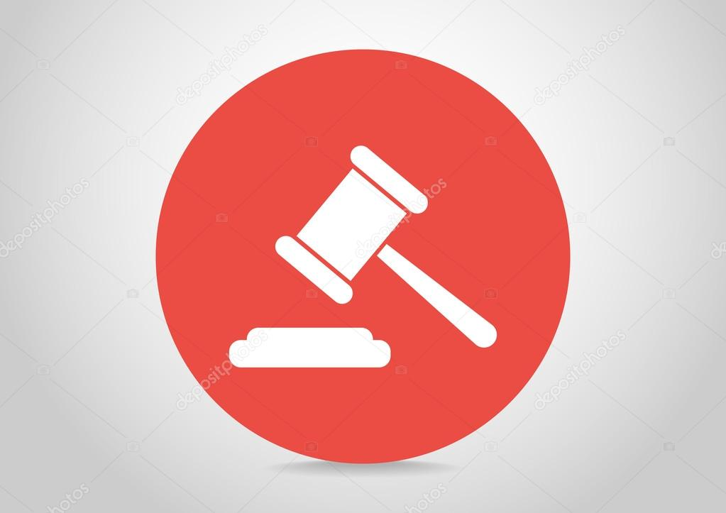 Law hammer icon — Stock Vector © LovArt #65774263