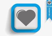 Heart web icon — Stock Vector