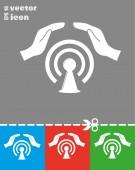 Web Us icon — Stockvector