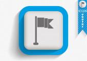 Flaga ikona sieci web — Wektor stockowy