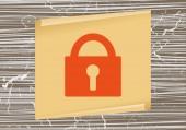 Locking web icon — Stock Vector