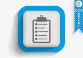 Clipboard web icon — Stock Vector