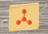 Molecular compound icon — Stock Vector