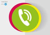 Telefon tkanina ikona — Wektor stockowy