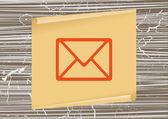 ícone de e-mail da web — Vetor de Stock