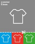 Simple T-shirt icon — Vetor de Stock