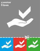 Check mark web icon — Stock Vector