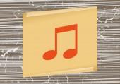 Musik-notiz-symbol — Stockvektor