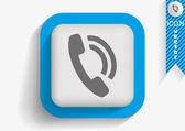 Telefon web-symbol — Stockvektor