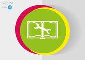 Icono del libro web — Vector de stock