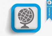 Icono web tierra — Vector de stock