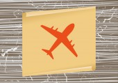 Flugzeug-Web-Symbol — Stockvektor