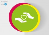 Ícone de web de caridade — Vetor de Stock