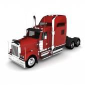 Тяжелый красный грузовик — Стоковое фото