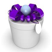 Gift box, with a ribbon — Zdjęcie stockowe