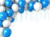 Colorful flying balloons — Stock Photo