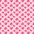 Romantic seamless pattern with hearts — Stock Photo #65870401