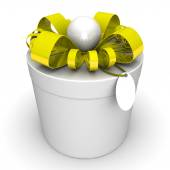 Gift box, with a ribbon — Stock Photo
