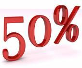 孤立的 50% — 图库照片