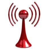 Wireless tower with radio waves — Stock Photo