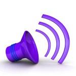 Colorful Speaker icon — Stock Photo #66647041