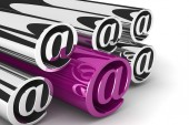 Background with email symbols — Stock Photo