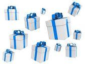 Beautiful gift boxes — Stock Photo