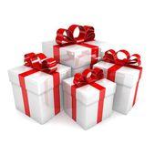 Boîtes à cadeaux en diverses angulations — Photo