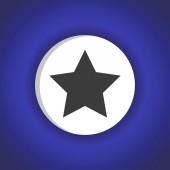 Star web icon — Stock Vector