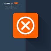 Eliminare l'icona web — Vettoriale Stock