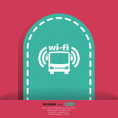 Ícone de wi-fi de ônibus — Vetor de Stock
