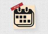 Calendar web icon — Stock Vector