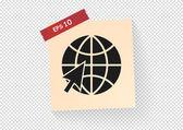 Icona web terra — Vettoriale Stock