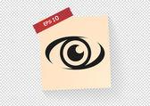 Eye web icon — Stock Vector