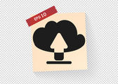 Cloud file downloads web icon — Vector de stock