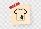 Dirty shirt icon — Stock Vector