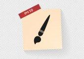Paint brush icon — Stock Vector