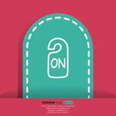 ON label web icon — Vector de stock