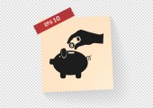 Piggy web icon — Stock Vector