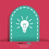 Bulb web icon — Vecteur