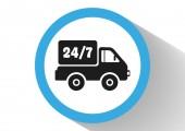 Home delivery web icon — Vetor de Stock
