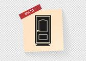 Kapı web simgesi — Stok Vektör