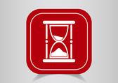 Zandloper web pictogram — Stockvector
