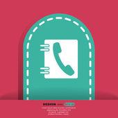 Символ телефонной книги — Cтоковый вектор