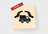 Delivery truck icon — Stock Vector