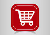 Shopping cart web icon — Stockvektor