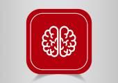 Brain web icon — Stock Vector