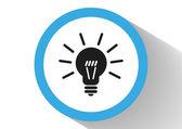 Bulb web icon — Stock Vector