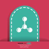 Moleküler bileşik web simgesi — Stok Vektör
